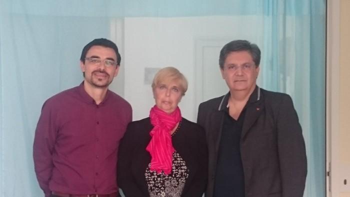 Dottor Spinelli, chirurgo plastico, Dottoressa Resy Langiano Presidente CIF di Aprilia, Dottor Fabio Ricci senologo