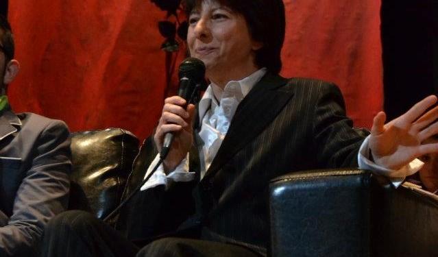la scrittrice Rosa Manauzzi alla presentazione del Premio Strega.